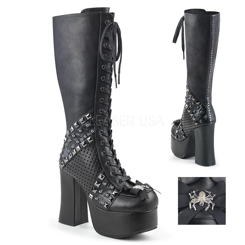 Botte goth cuir végan noir - Pointure : 38