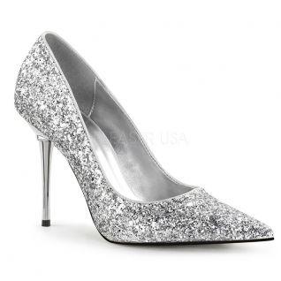 Escarpins glitter argent appeal-20g