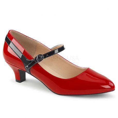 5751b994a51f09 Escarpin rouge fab-425. Escarpin rouge fab-425; Escarpins petit talon rouge  vernis ...
