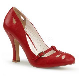 Escarpins Années Folles rouge haut talon