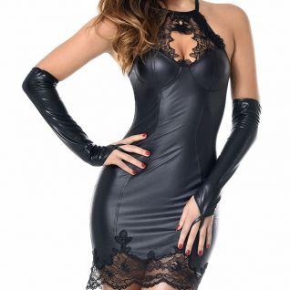 Robe wetlook noir