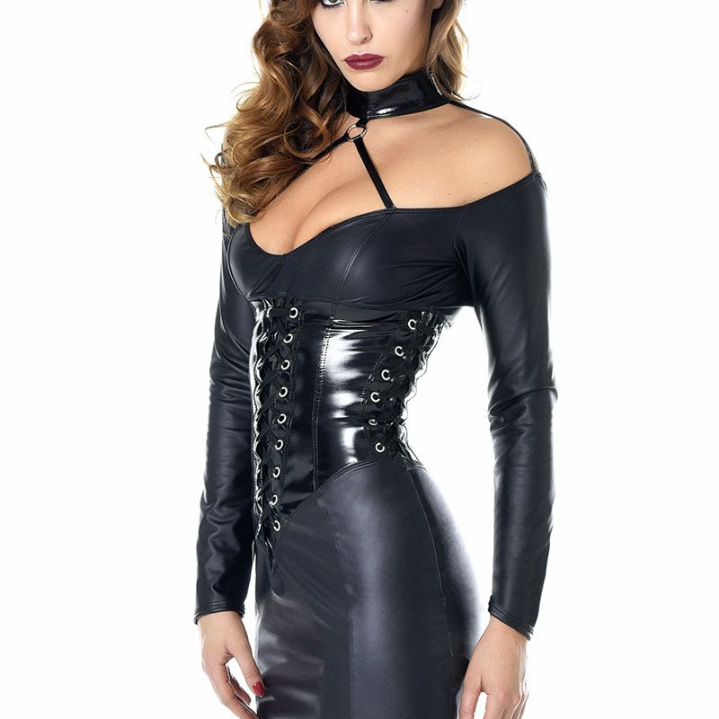Une Noire Sexy Robe Quelle Longue Dominatrice Pour nO0kwP