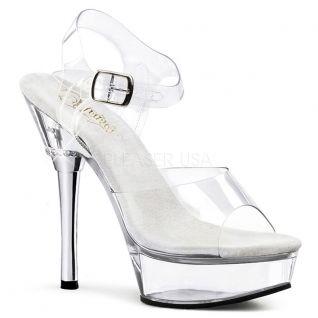 Chaussures Pole Dance sandales transparentes talon plateforme allure-608