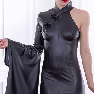 Robe asymétrique noire haute couture Catanzaro