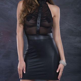 Robe noire transparente