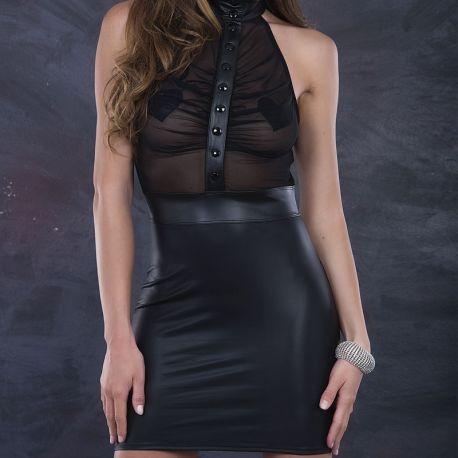 Robe hyper courte transparente