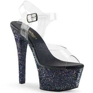 Sandales paillettes noires