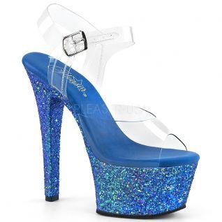 Nu-pieds paillettes bleues