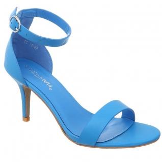 Sandales coloris bleu turquoise