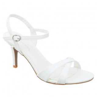 Sandale blanche petit talon