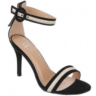 Sandale noire à bride talon fin