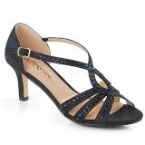 Sandale paillettes coloris noir