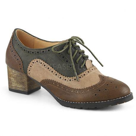7c5ad13e2a2fb ... oxford · chaussure fille derby multi couleur · derbies nuance de marron  talon large. 1. Derbies à lacet russel-34