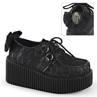 Creepers cuir vegan noir