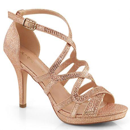 4a9c4d81ef9090 ... talon pas cher; nu-pieds strass or petit prix. 1. Sandale habillée  daphne-42