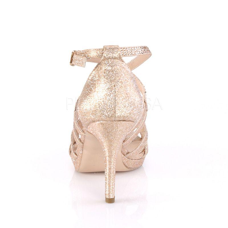 c007138f273695 ... chaussure habillée paillettes dorées; nu-pied doré talon pas cher;  nu-pieds strass or petit prix ...