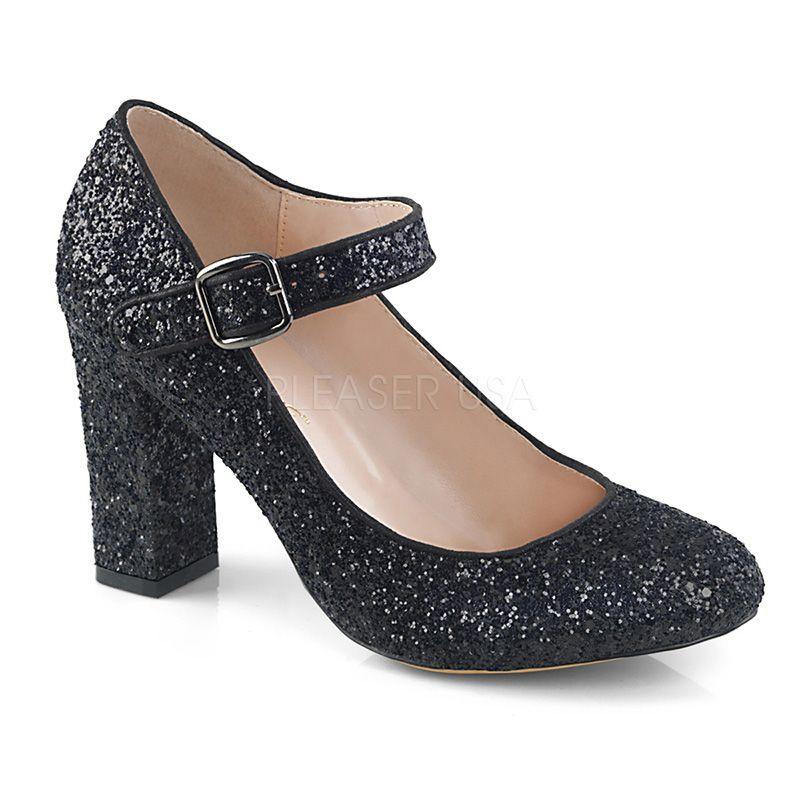 style actuel design distinctif meilleur service Chaussures de danse escarpin Mary Jane strass noir