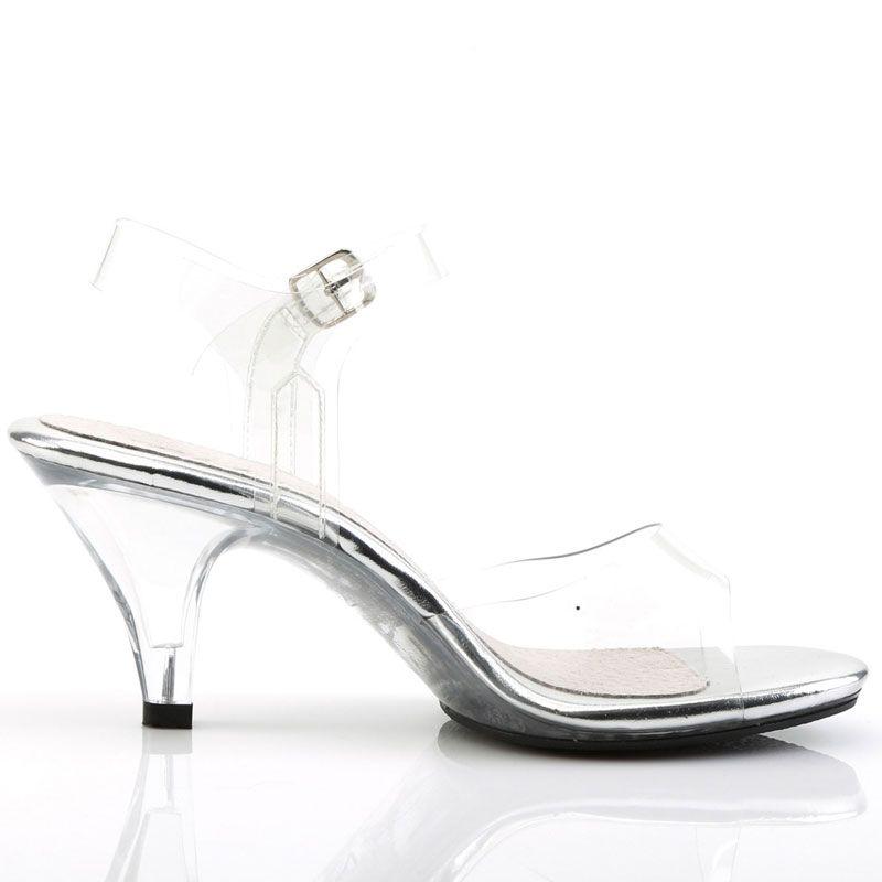 Acheter des nu pieds transparents à talon pas cher