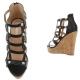 acheter sandales compensées noires petit prix