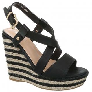 Sandale compensée semelle corde