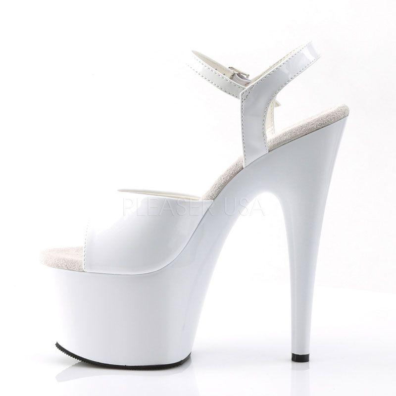 ... Nu-pied sexy blanc vernis  chaussure infirmière lubrique ... 796446935a66