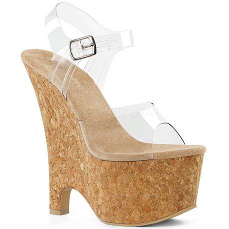 683cb3f723579d Chaussure compensée semelle liège nu-pieds modes
