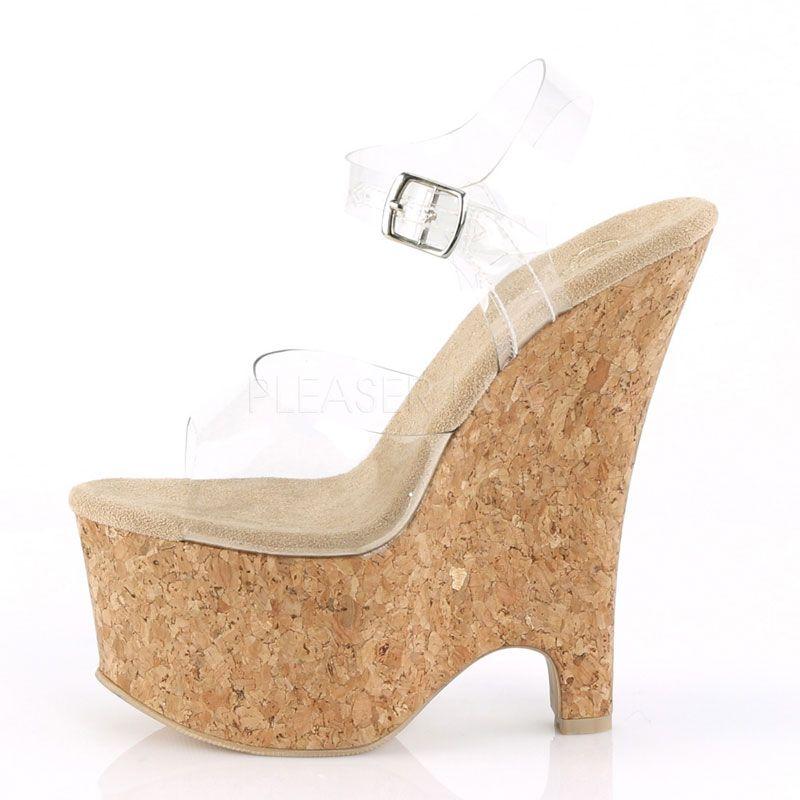 751d1857db7f36 ... Nu-pied transparent beau-608 · sandale compensée liège pas chère ·  chaussure transparente ...