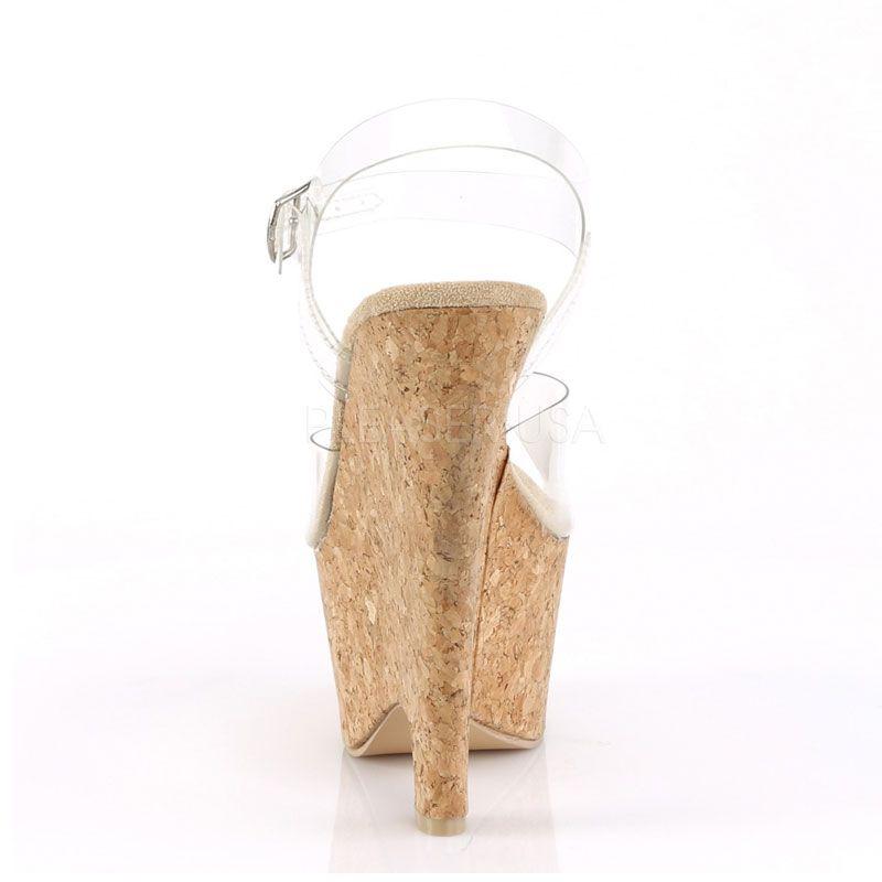 fbff2a4d7dc1be ... chaussure transparente compensée liège · haut talon compensé liège  petit prix · Nu-pied transparent compensé ...