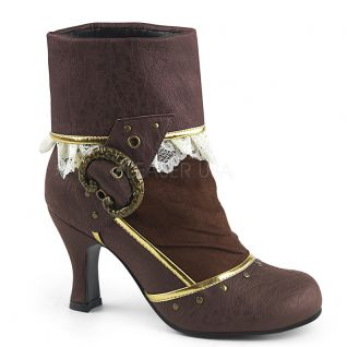 Bottines victoriennes coloris marron