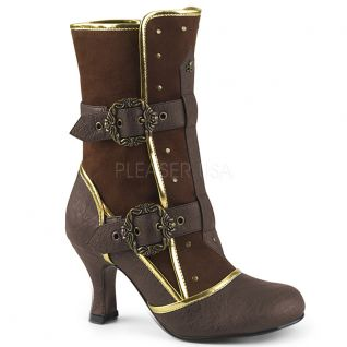 Bottines steampunk coloris marron
