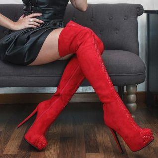 porter des genouillères rouges à talon