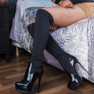 porter des bottes noires à talon