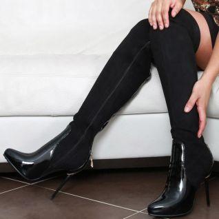 bottes hautes noires pas chères