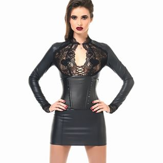 Robe tube noire dos transparent