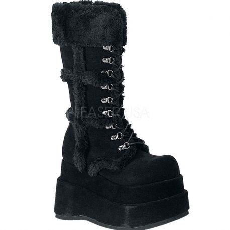2bc7b246342f Acheter des bottes fourrées noires style gothique