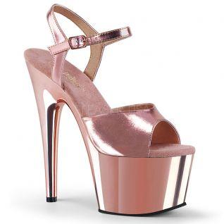Sandale rose chromée