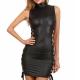 Mini robe noire à lacet