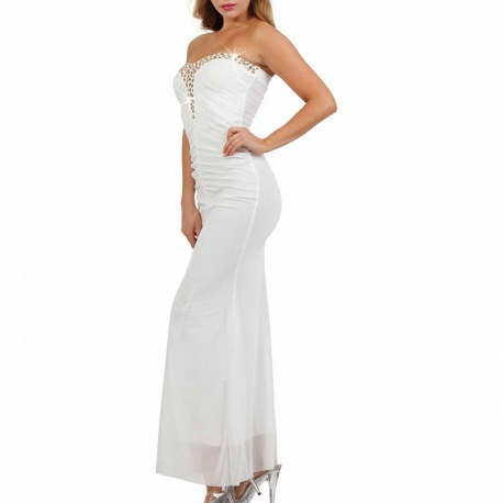 Robe blanche à strass