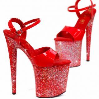 Nu-pied rouge talon extrême