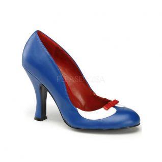 Escarpin bleu pin-up