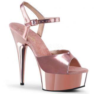 Nu-pied rose métallisé