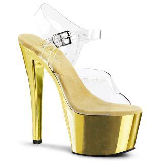 Sandale plateforme dorée