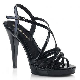 Nu-pieds noirs vernis à brides