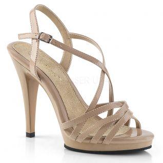 Sandale nude à brides