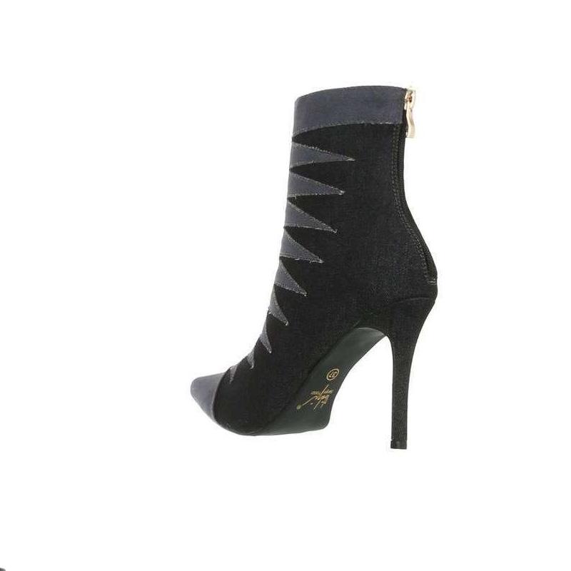 d7c8a14dbe3 Bottine en jeans noir femme prix discount en ligne