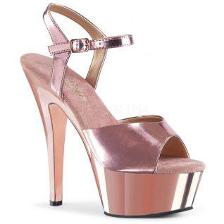 Sandale rose métal