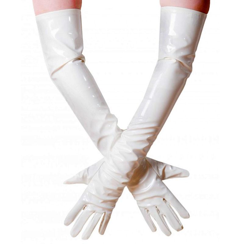Gants longs vinyle blanc - Taille gants : XL - Honour - Modalova