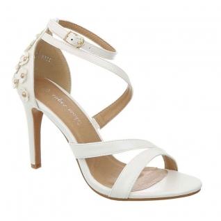 Sandales asymétriques blanches