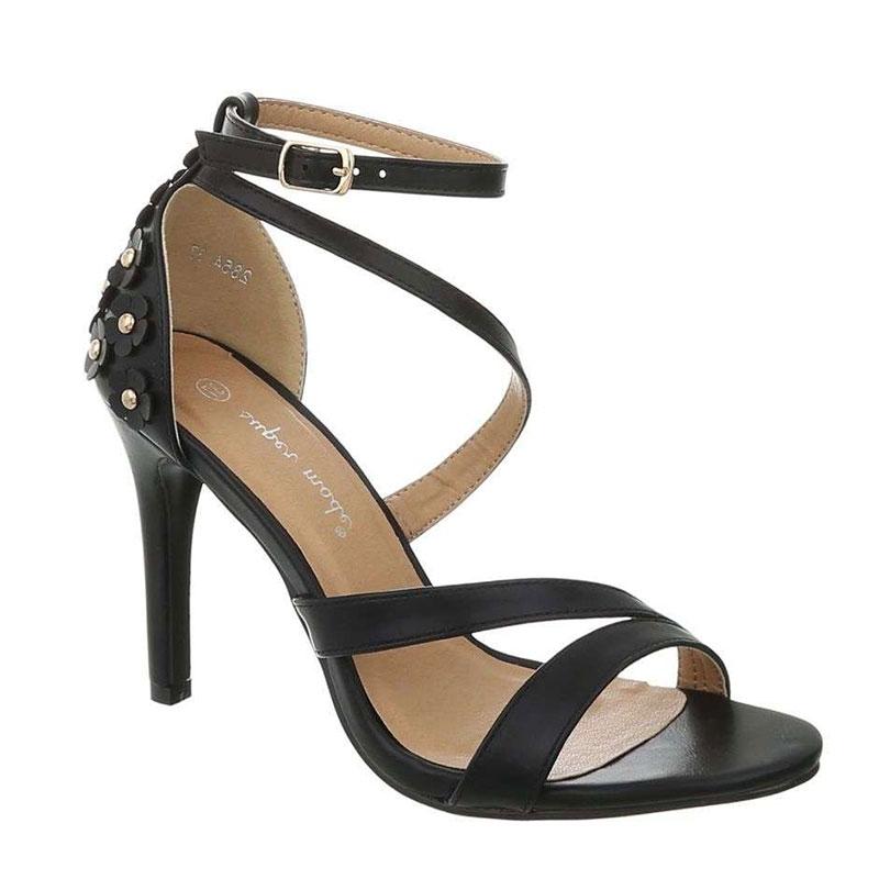 Sandale asymétrique noire - Pointure : 39