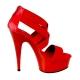 nu-pied elastique rouge talon haut